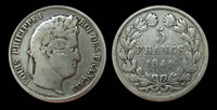 5 francs Louis Philippe I
